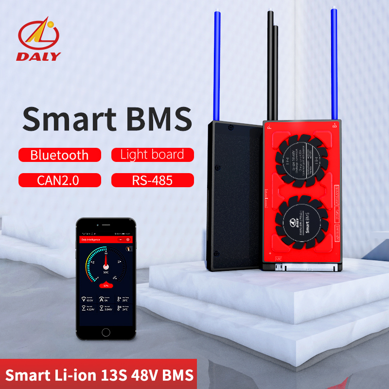 Daly Smart BMS  13S 48V  Bluetooth+485 To USB Device +CAN+NTC +UART  Togther Lion LiFePO4 LTO  Batteries2.3V/2.4V Conn