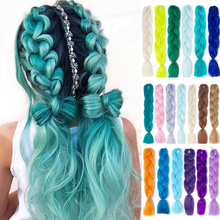 Hair-Extension-Box Braid-Hair Crochet Pink Yellow Purple Ombre Golden-Colors