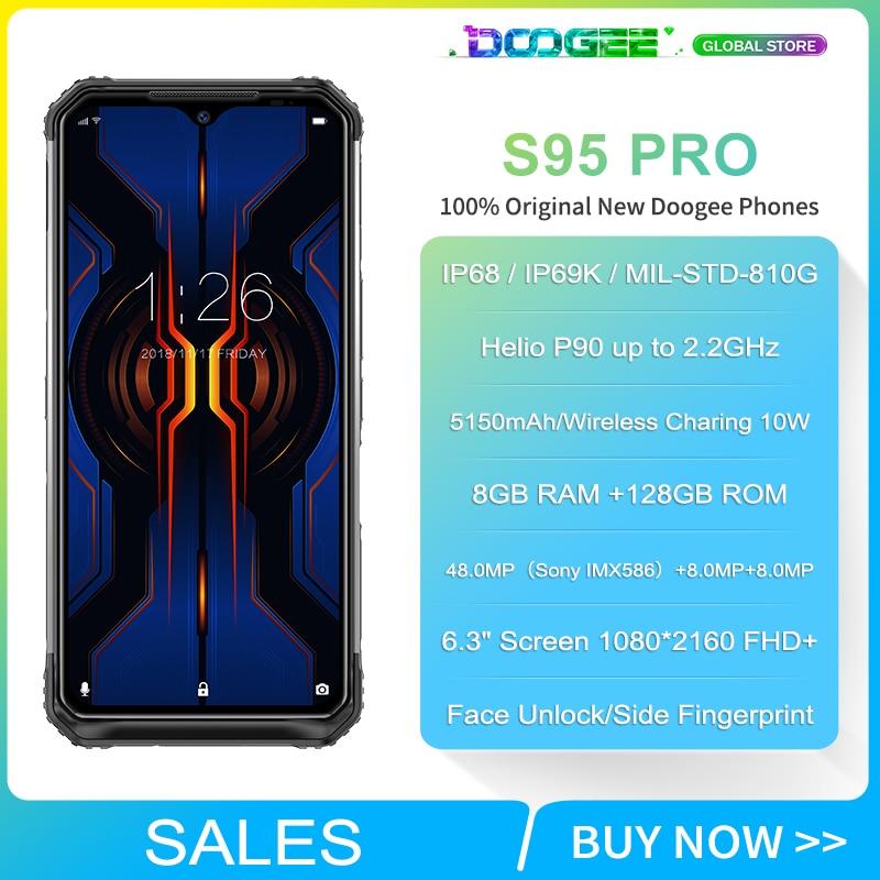 "Doogee S95 Pro Modular Rugged 8GB 128GB Mobile Phone IP68/IP69K Smartphone 6.3"" Display Helio P90 Octa Core 48MP Triple camera"