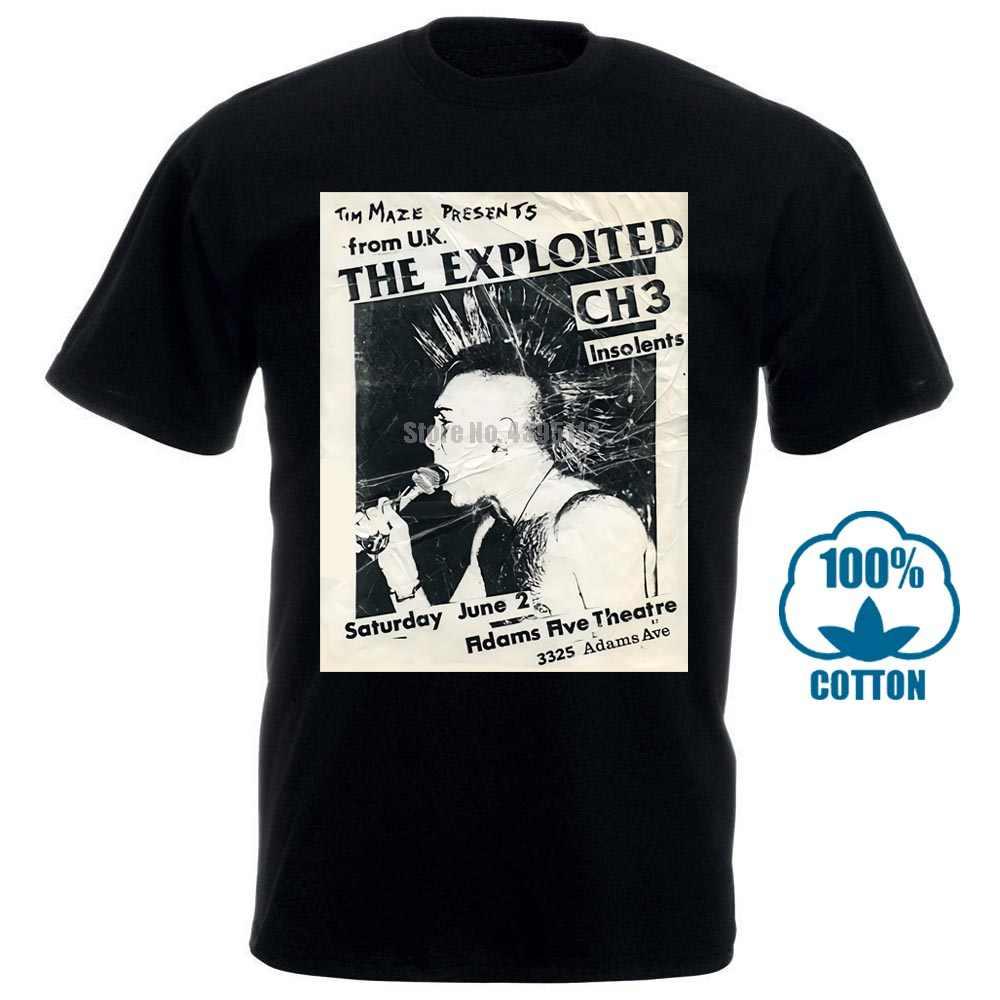 En istismar T Shirt İngiltere alt Agnostic ön deşarj Punk Rock grafik Tee 011403