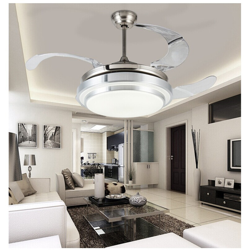 LED Ceiling Fan With Lights Remote Control AC 110-240Volt Input Fan LED Light Bulbs Bedroom Fan Lamp