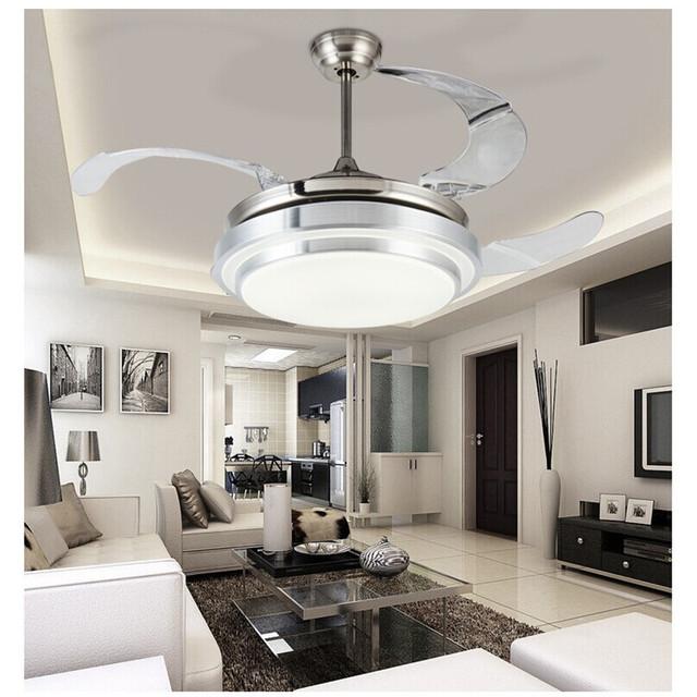 LED Ceiling Fan With Lights Remote Control AC 110-240Volt input Fan LED Light Bulbs Bedroom Fan Lamp