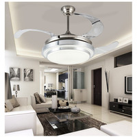 LED Ceiling Fan With Lights Remote Control AC 110 240Volt input Fan LED Light Bulbs Bedroom Fan Lamp