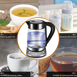Image 4 - 1.7L Temperature cControl Electric Kettle Glass Transparent 2200W Household Quick Heating Electric Boiling Pot Sonifer