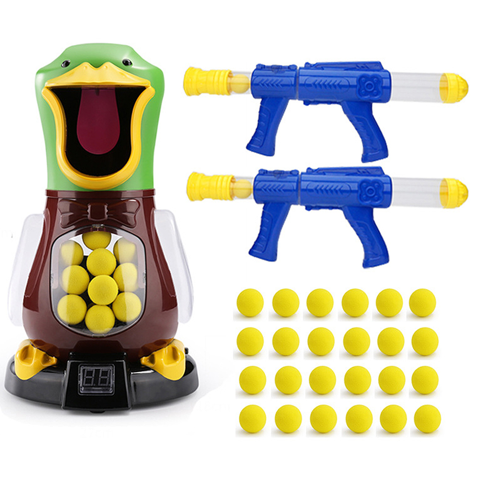 Interessante macio bala arma pontuação alvo pato crianças tiro brinquedos shooter espuma bola batalha educacional popper de energia do ar presente natal