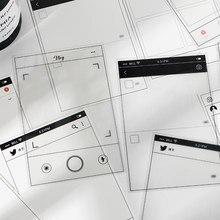 36 unids/lote INS estilo interfaz Social Material de la etiqueta de papel de diario planificador Scrapbooking Vintage bricolaje decoración de papel artesanal