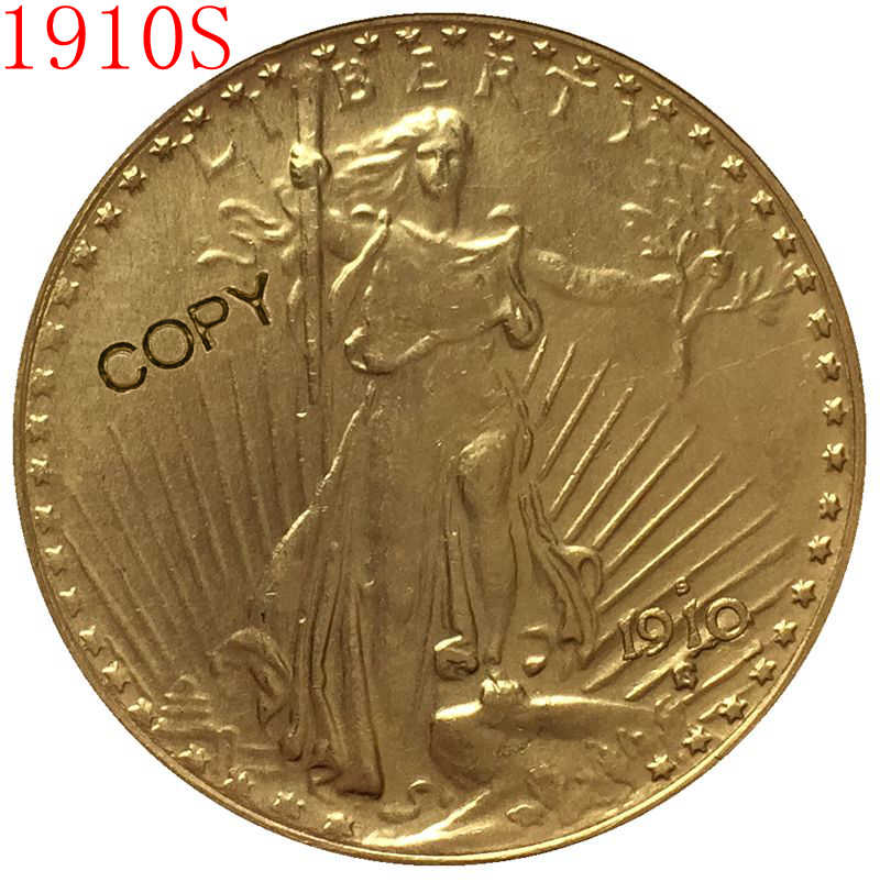 USA 1910-S $20 St. Gaudens Coin Copy