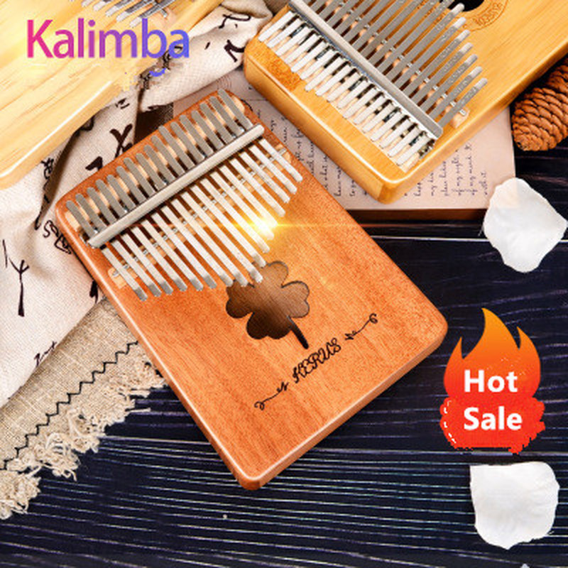 Hot Sale Kalimba 17 Key Mahogany Body Thumb Piano 17 Llaves  Musical Instrument Best Quality And Price