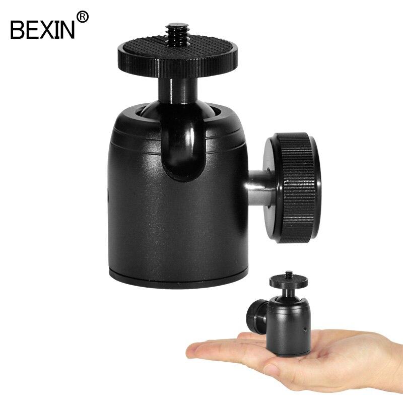 Мини-штатив с шаровой головкой для камеры, вращающийся на 360 градусов Штатив с шаровой головкой, подставка для телефона, крепление для монопода, адаптер для DSLR камеры, Трипод для вспышки
