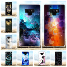 For Samsung Galaxy Note 9 Cover Soft TPU N960F N960U N9600 Case Hill Patterned Capa