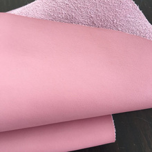 Poly urethane 1.4mm cowskin leather stickers light pink cowskin leather leather stickers microfiber leather Free shipping leather