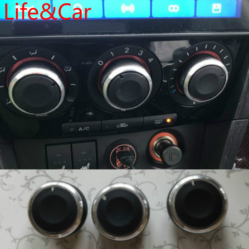 AC Heater Climate Control Knob Panel Switch Knobs Buttons For MAZDA 3 M3 2003 2004 2005 2006 2007 2008