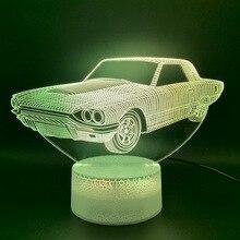 Cool 3D ilusión lámpara Vintage coche Lampara Oficina hogar Deco lámpara holograma regalo para chico niño luz nocturna Retro Coche Led luz de noche