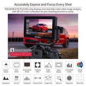 Image 3 - FEELWORLD F6 PLUS 5,5 pulgadas 3D LUT pantalla táctil 4 K HDMI Monitor Full HD 1920x1080 IPS Cámara campo monitor para cámaras Nikon