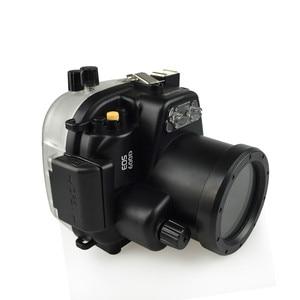 Image 2 - الغوص كاميرا القضية لكانون EOS 550D/600D للماء 40M المياه الرياضة السباحة الانجراف تصفح كاميرا واقية حالة حقيبة 1 قطعة