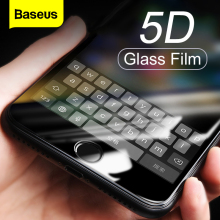 Baseus 0.3MM Screen Protector Tempered Glass For iPhone 8 7 Plus 5D Curved Full Cover Protective Toughened Glass Film