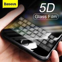 Baseus 0.3MM ochraniacz ekranu szkło hartowane dla iPhone 8 7 Plus 5D zakrzywiona pełna ochrona telefonu osłona ze szkła hartowanego w Etui do ekranu telefonu od Telefony komórkowe i telekomunikacja na