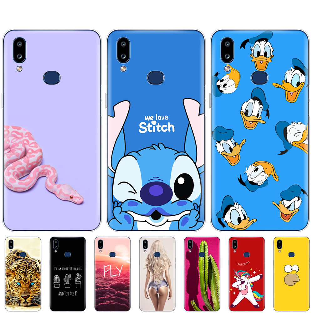 Case For Samsung A10S Case cover Soft Silicon coque on For Samsung Galaxy A10S GalaxyA10S A 10S <font><b>A107F</b></font> bumper cute cartoon image