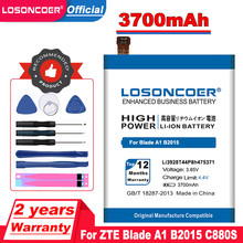 LOSONCOER 3700mAh Li3928T44P8h475371 pour ZTE Lame A1 B2015 V8mini V8 mini Batterie C880 C880A C880S AXON Mini Xiaoxian 3