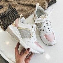 Women Crystal Sneakers Spring Autumn Casual Zipper Flat