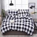 Solstice черно-белый полосатый сетчатый Комплект постельного белья для детей  для мальчиков и девочек  постельное белье  пододеяльник  наволочк...