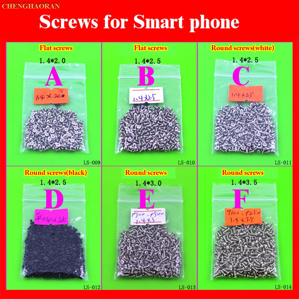 1.4 Series 2.0 2.5 3.0 3.5 Full Set Screws For Antroid Phone Smart Phone Chinese Phone 1.4X2.0 2.5 3.0 3.5