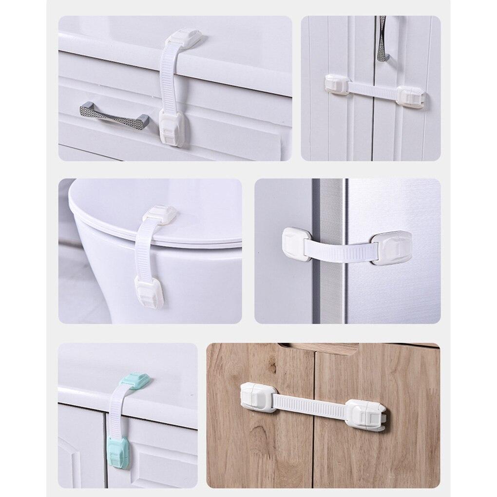 Brand New 5PCS/Set Random Color Safety Care Plastic Lock Drawer Door Cabinet Cupboard Baby Locks Strap Safe Protection Props