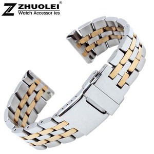 Image 5 - 22mm 24mm High Quality Solid Stainless Steel Watch Bracelet for mens  Breitling watch band