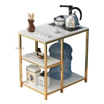 Sofa do salonu stoły końcowe Nordic luksusowy stolik nowoczesny marmurowy stolik kawowy meble do salonu mały stolik do herbaty tanie i dobre opinie FOSUHOUSE CN (pochodzenie) Metal iron China Nowoczesne 60*65*40 Europa i Ameryka Rectangle samodzielnie