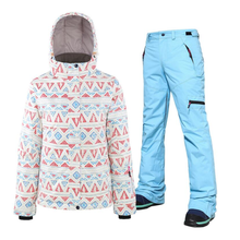 цена на Winter Ski suit Women High Quality Ski Jacket Pants Snow Winter Warm Waterproof Windproof Skiing Snowboarding Female Ski Suits
