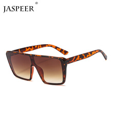 JASPEER Square Sunglasses Women Oversized Mirror Men Shades