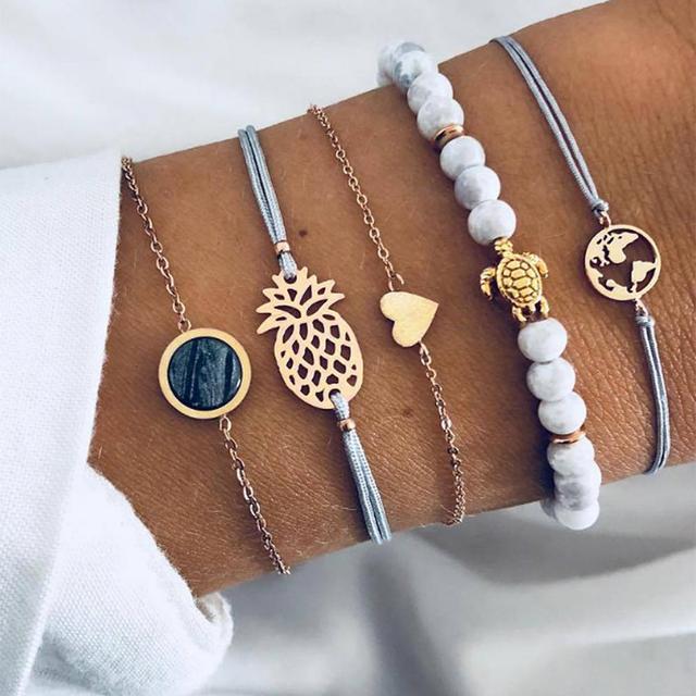 6pcs Set Women's Watches Fashion Women Wrist Watch Luxury Ladies Watch Women Bracelet Simple  Reloj Mujer Clock Drop Shipping