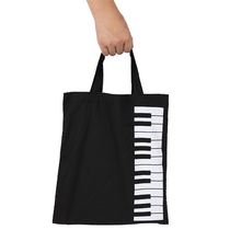 Portable Handbag Cotton And Linen Music Score Bag Keyboard Pattern Musical Bags Instruments Appliance