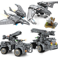 Shanghai Military Fortress Aircraft Compatible Legoing Plane Avion Army Figures Sets Movie Model Building Blocks Toys SWAT(China)