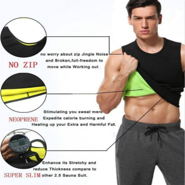 Men's Slimming Body Shaper Modeling Vest Belt Belly Men Reducing Shaperwear Fat Burning Loss Weight Waist Trainer Sweat Corset 3