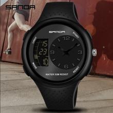 SANDA Reloj de estudiante para hombre, resistente al agua, luminoso, multifunción, para deportes al aire libre, de pulsera, electrónico