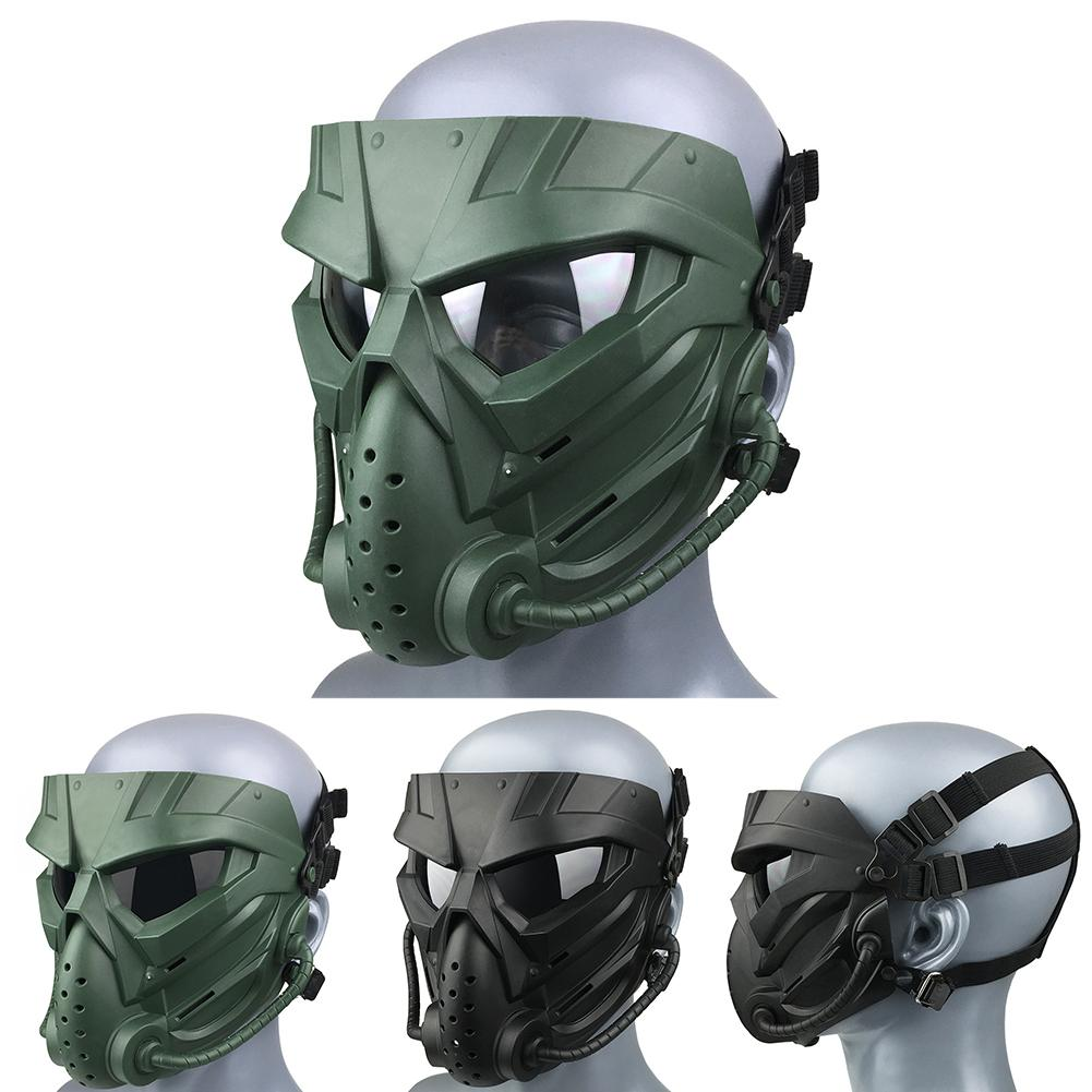 Outdoor Tactical Military Airsoft Paintball Breathable Full Face Mask Anti-dust Anti Fog Lens Cycling Face Mask Protective Cover