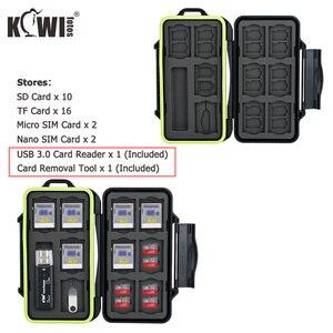 Image 1 - Wodoodporne etui na kartę pamięci SD SDHC SDXC Micro SD TF Micro SIM Nano SIM stojak w kształcie karty schowek pudełko typu Organizer i czytnik kart usb 3.0