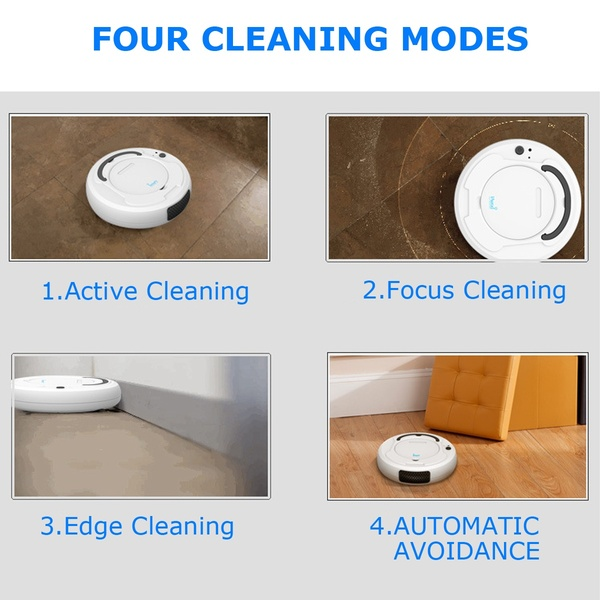 1800Pa Multifunctional Smart Floor Cleaner,3-In-1 Auto Rechargeable Smart Sweeping Robot Dry Wet Sweeping Vacuum Cleaner Robot