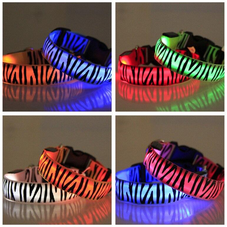 Zebra-stripe New Style Shelves LED Shining Pet Dog Bandana Neck Ring AliExpress Porches