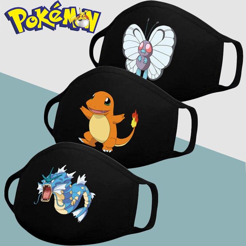 1pcs Pokemon Pikachu Mask Cartoon Anime Maska Przeciwpylowa Mouth Capsmouth Masks Children Reusable Washable Cute Face Masks