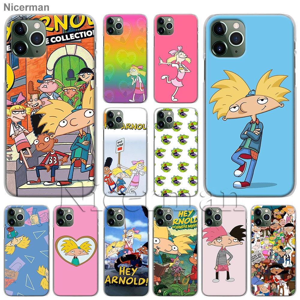 Hey Arnold Sonder Telefon Fällen für Apple iPhone 11 Pro Max X XR XS MAX 6 6s 7 8 plus SE 2020 Harte Schale Abdeckung Coque