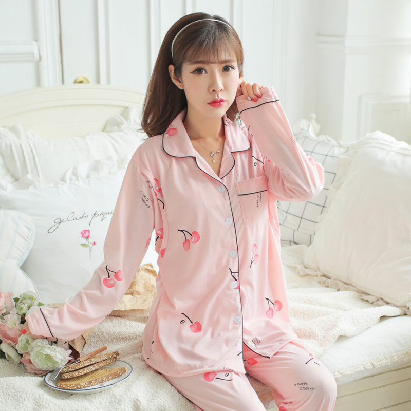 Spring And Autumn Confinement Clothing Pregnant Women Pajamas Postpartum Lactation Garment Set Autumn & Winter Maternal Feeding