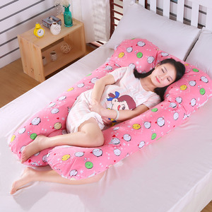 Image 5 - Sleeping Support Pillow For Pregnant Women Body PW12 100% Cotton Rabbit Print U Shape Maternity Pillows Pregnancy Side Sleepers