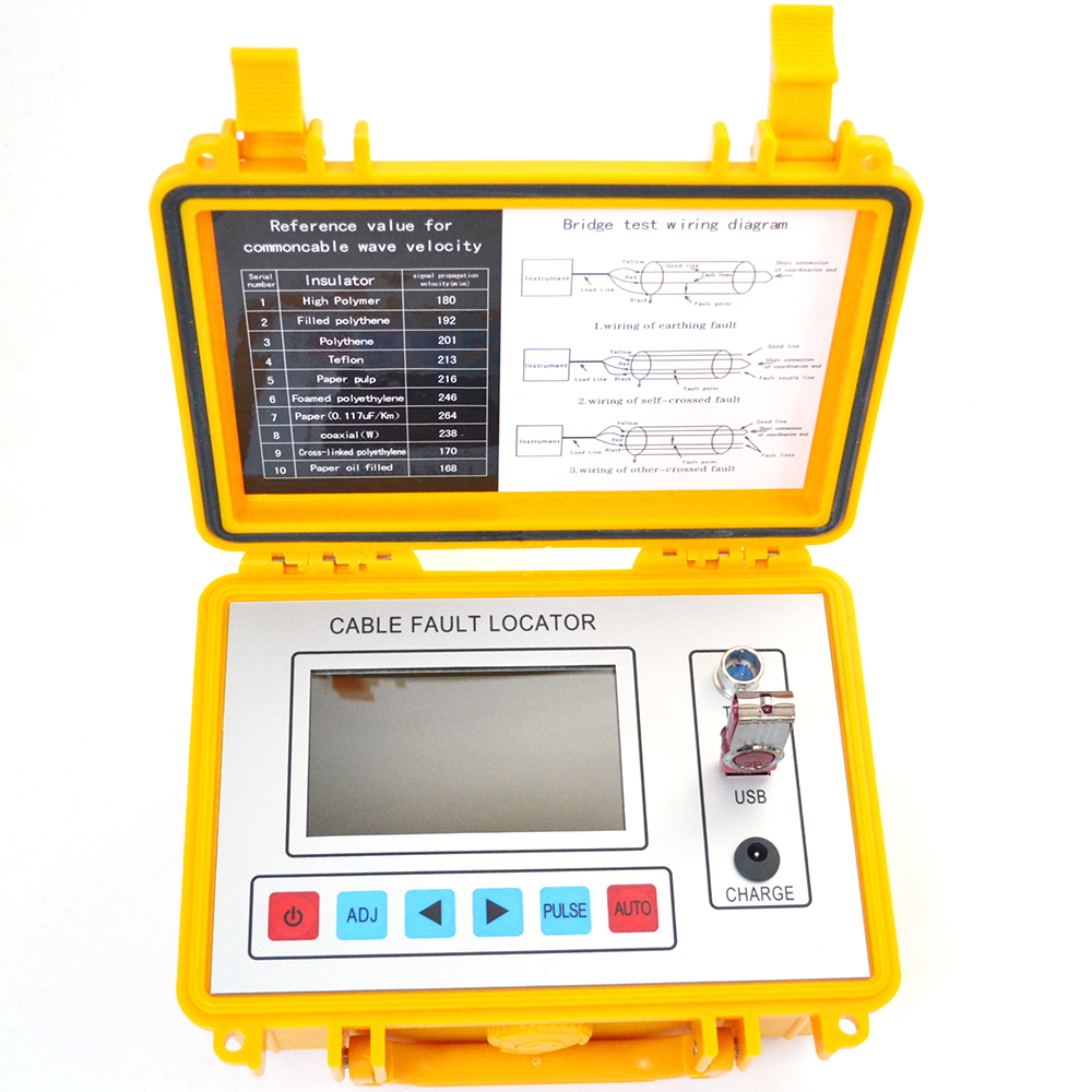 GY800 Intelligent Cable Fault Locator Portable Field Instrument Working On TDR And Bridge Methods