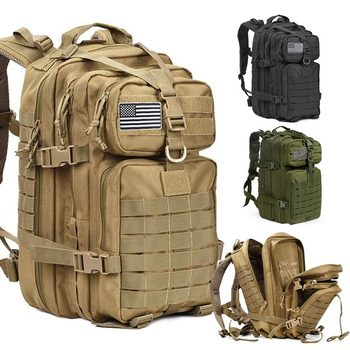 50L Capacity Men Army Military Tactical Large Backpack Waterproof Outdoor Sport Hiking Camping Travel 3D Rucksack Bags For Men
