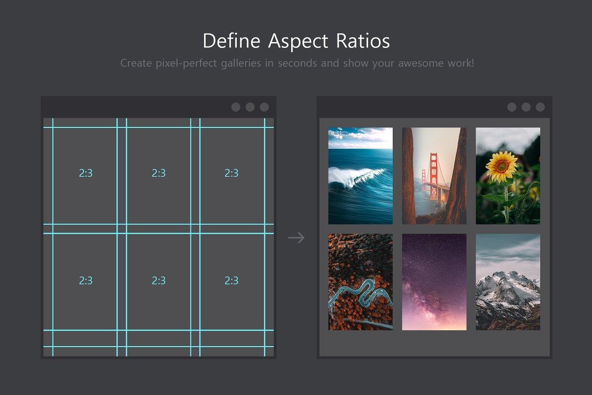 软件插件-PS扩展面板 网格布局创建插件Better Grids – Layout Creation Kit(9)