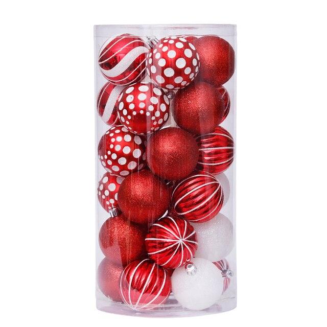 Фото 2020 30 шт рождественские шары золотые розовые цвета шампанского