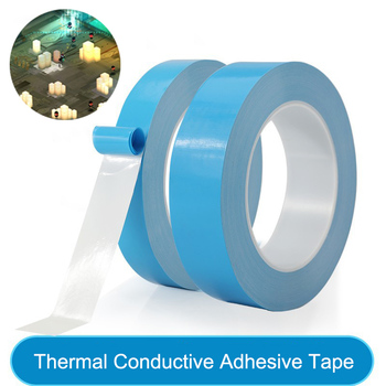 25meter/Roll 8mm 10mm 12mm 20mm Width Transfer Tape Double Side Thermal Conductive Adhesive Tape for Chip PCB LED Strip Heatsink image