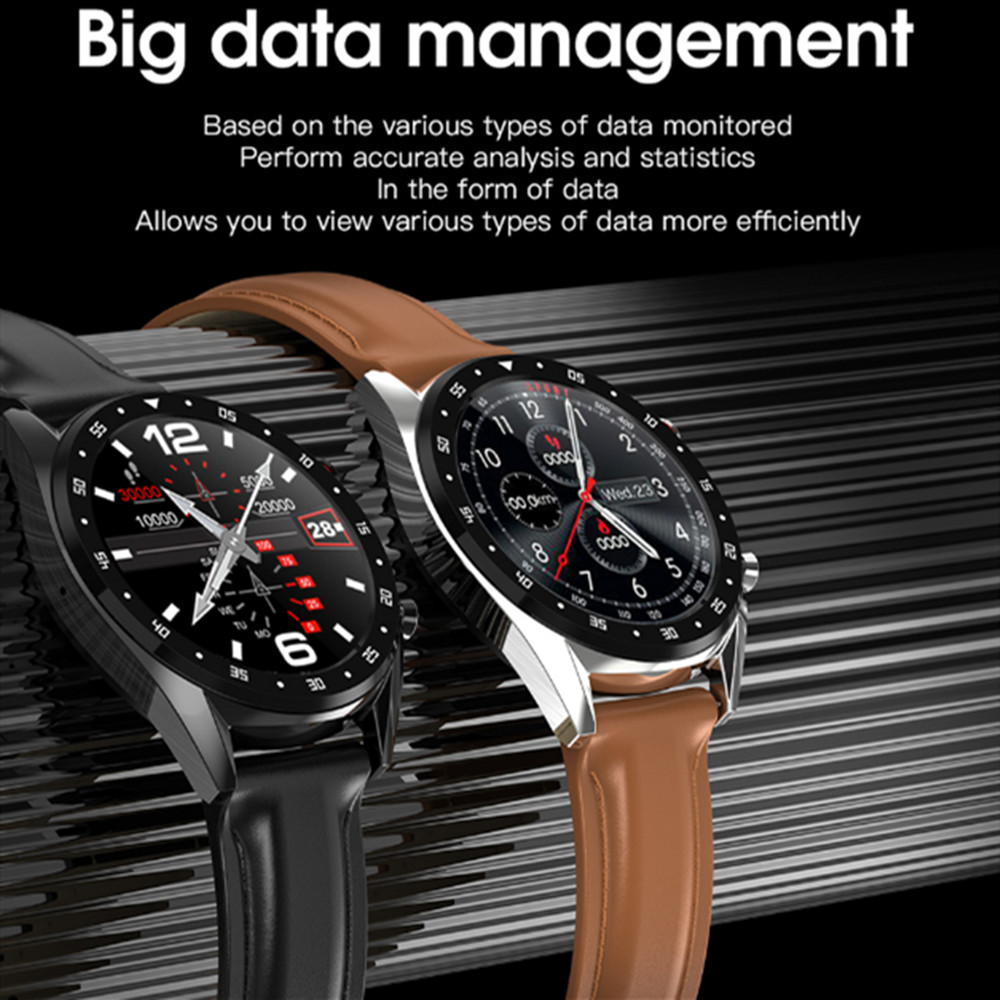 <font><b>L7</b></font> ECG PPG Smart Watch Men Band Sports Heart Rate Bluetooth <font><b>Smartwatch</b></font> Waterproof IP68 Blood Pressure Oxygen Leather Watch Women image